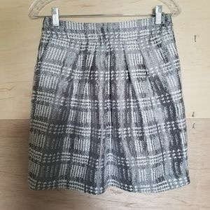 The Limited Silver and White Skirt